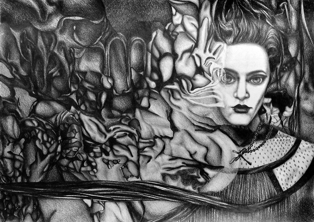 Into the Deep Unknown, 2018, 50-70cm, graphite crayon on paper by oanaunciuleanu