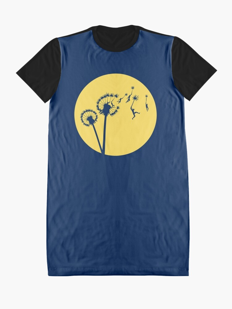 Alternate view of Dandylion Flight - Reversed Circular Graphic T-Shirt Dress