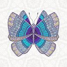 Teal Blue Butterfly by artlovepassion