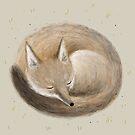 Swift Fox Sleeping by Sophie Corrigan