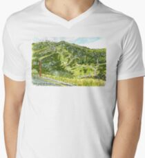 Perisher in summer - Snowy Mountains, NSW, Aus. Men's V-Neck T-Shirt