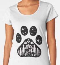 Dog paw camping best gift for puppies lover Women's Premium T-Shirt