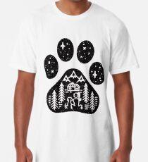 Camiseta larga El mejor regalo que acampa de la pata del perro para el amante de los perritos