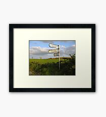 County Clare signposts Framed Print