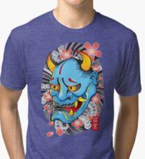 Hanya Demon Mask Tri-blend T-Shirt
