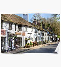 An English village - Prestbury Cheshire Poster