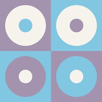 Geometric Pattern: Alternating Circles: Orchid by redwolfoz