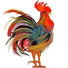 Le Coq Art Nouveau Rooster by mindydidit