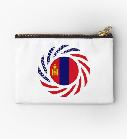 Mongolian American Multinational Patriot Flag Series Zipper Pouch