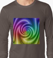 Abstract colorful turbulence Long Sleeve T-Shirt