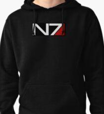 Black N7 Logo Pullover Hoodie