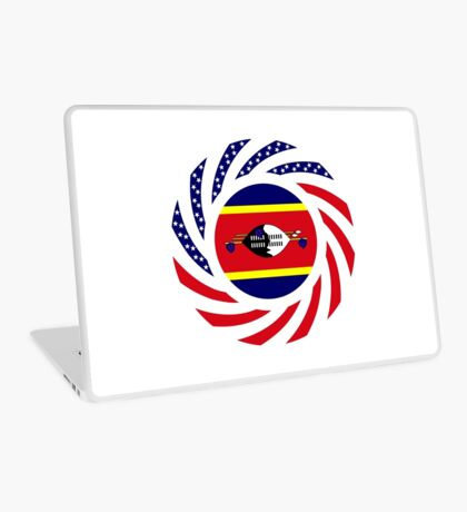 Swazi American Multinational Patriot Flag Series Laptop Skin