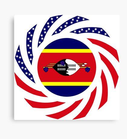 Swazi American Multinational Patriot Flag Series Canvas Print