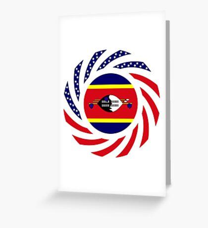 Swazi American Multinational Patriot Flag Series Greeting Card