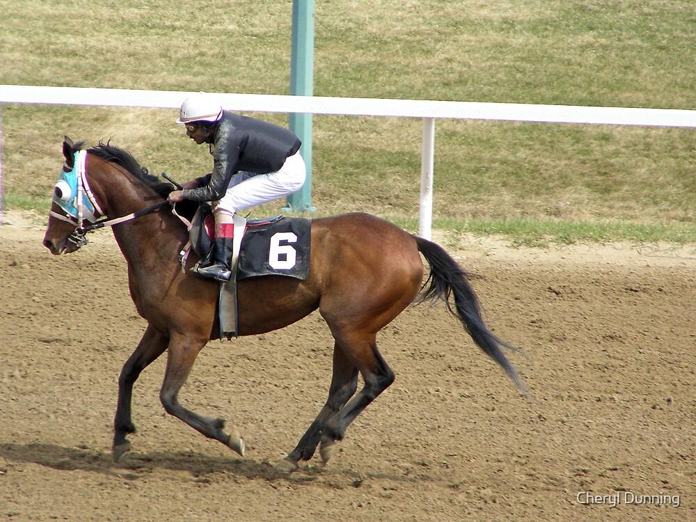 horseracing by Cheryl Dunning