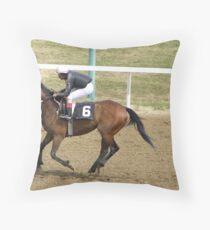 horseracing Throw Pillow
