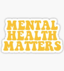 Mental Health Matters - Yellow Sticker