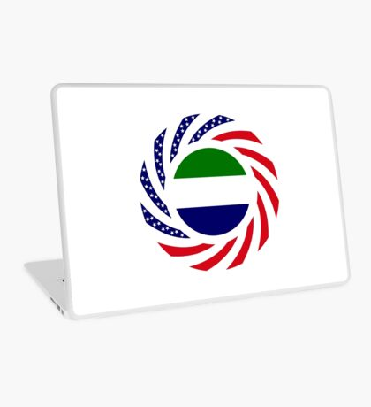 Sierra Leonean American Multinational Patriot Flag Series Laptop Skin