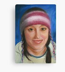 Girl with Woollen cap Canvas Print