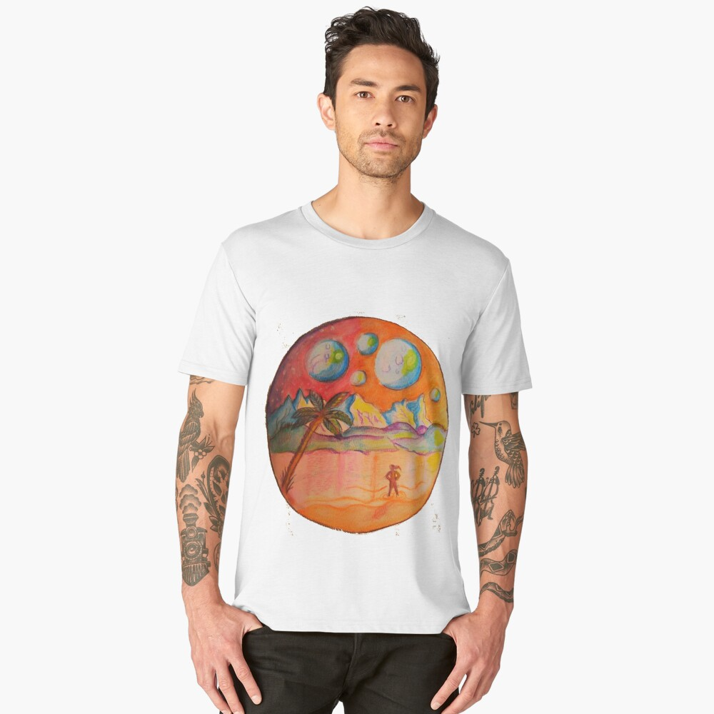 Sunrise on some other world Men's Premium T-Shirt Front