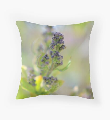 Lilac In Wait Throw Pillow