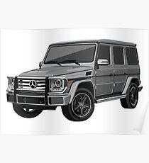Mercedes G Wagon Poster