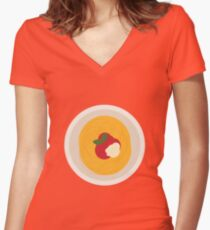 Spaghetti, Tomato, Parmesan & Basil Women's Fitted V-Neck T-Shirt