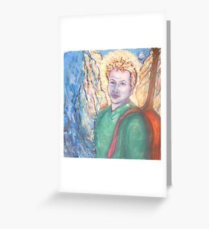 Adam with his angel wings Greeting Card