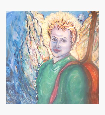 Adam with his angel wings Photographic Print