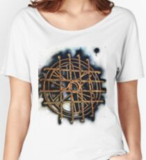 exhaust stencil Women's Relaxed Fit T-Shirt