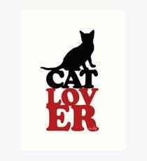 Lámina artística Amante de los gatos