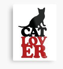Lienzo metálico Amante de los gatos