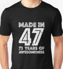 71st Birthday Gift Adult Age 71 Year Old Men Women Unisex T Shirt