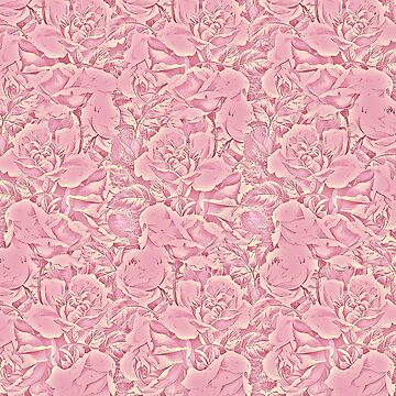 carpet of flowers in vintage pink by clemfloral