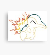 Minimalist Fire Mouse Pokemon Canvas Print