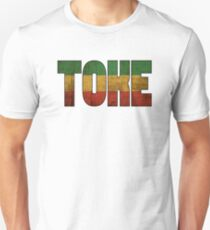 Toke Smoke Weed Reggae Colors Cool Vintage Design Unisex T-Shirt