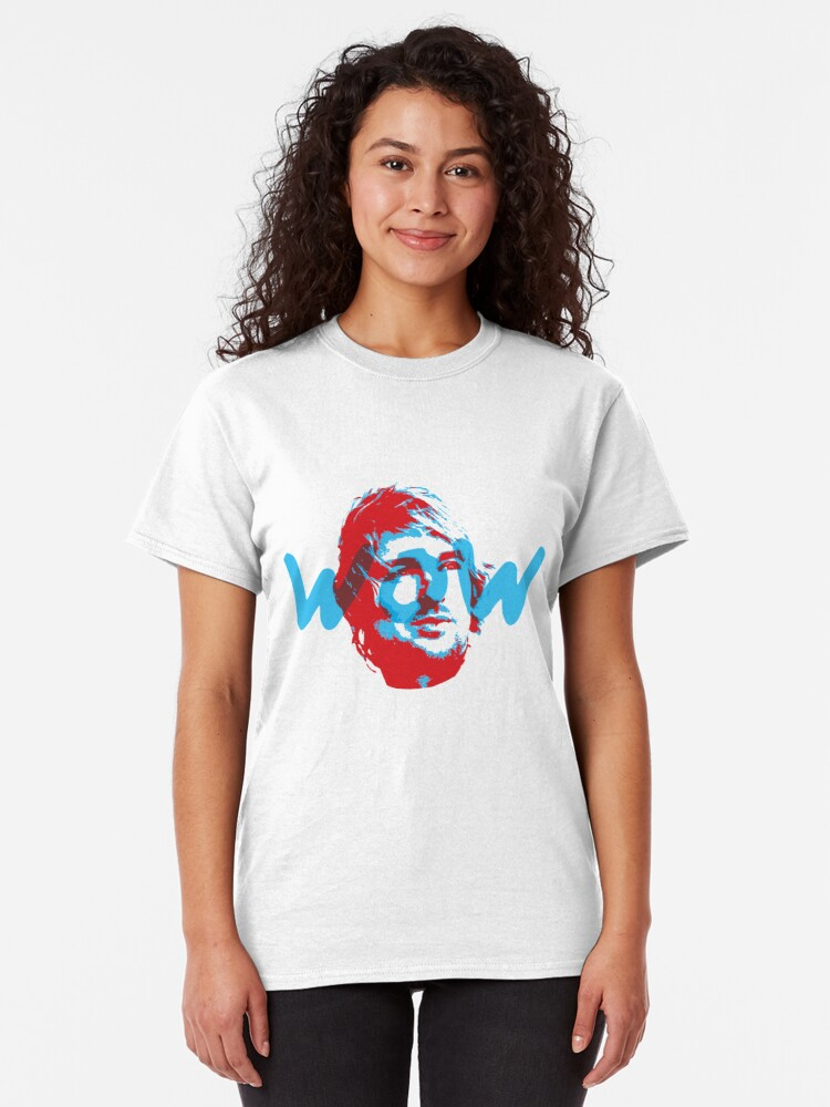 Alternate view of Owen Wilson Says Wow - Red Classic T-Shirt