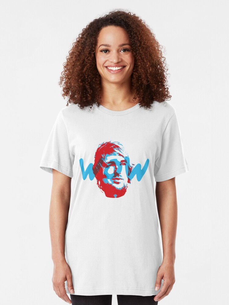 Alternate view of Owen Wilson Says Wow - Red Slim Fit T-Shirt