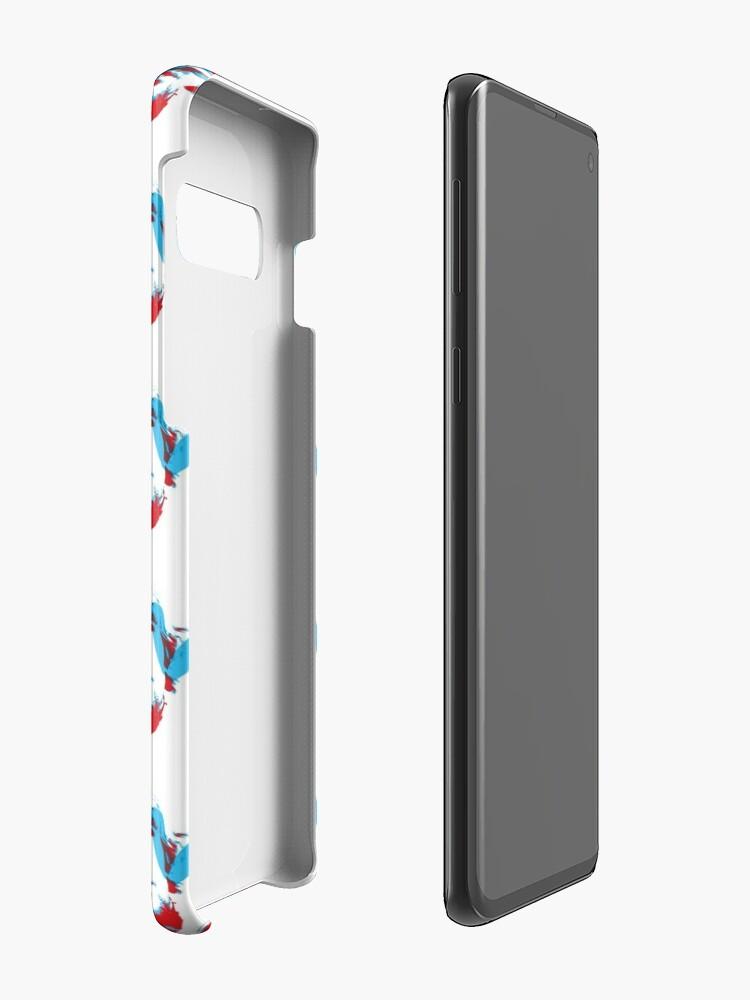 Alternate view of Owen Wilson Says Wow - Red Case & Skin for Samsung Galaxy
