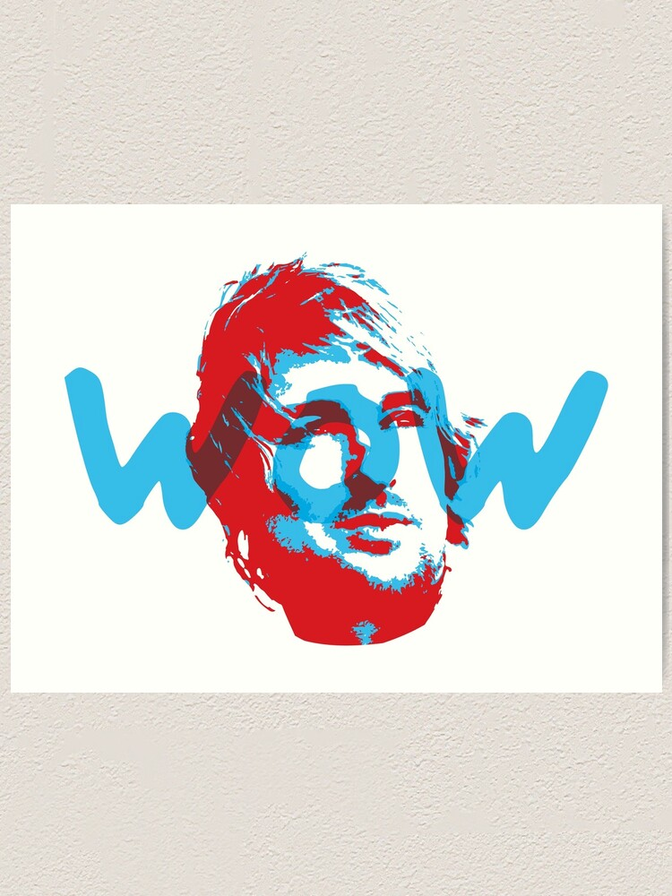 Alternate view of Owen Wilson Says Wow - Red Art Print
