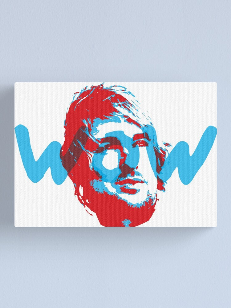 Alternate view of Owen Wilson Says Wow - Red Canvas Print