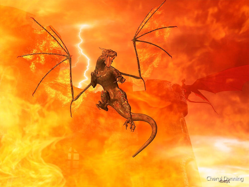 fire dragon by Cheryl Dunning