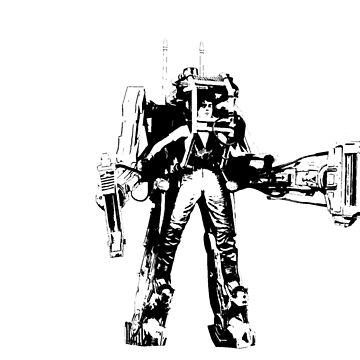 Ripley Power Loader B&W by richturner81
