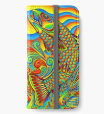 Psychedelic Rainbow Trout Fish iPhone Wallet/Case/Skin