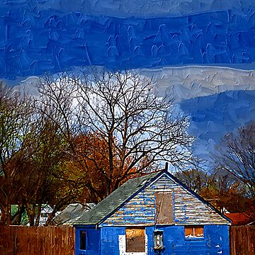 Deserted Blue House by dooley