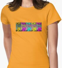 Five Flowers T-Shirt Womens Fitted T-Shirt