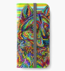 Colorful Psychedelic Rainbow Wolf iPhone Wallet/Case/Skin