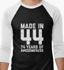 74th Birthday Gift Adult Age 74 Year Old Men Women Mens Baseball 3 4 T Shirt