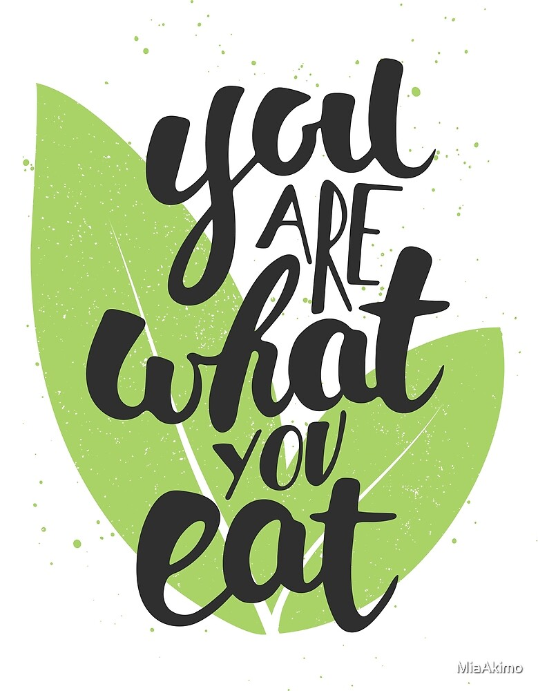 Inspirational Vegan Quote You Are What You Eat By Miaakimo