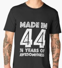 74th Birthday Gift Adult Age 74 Year Old Men Women Mens Premium T Shirt